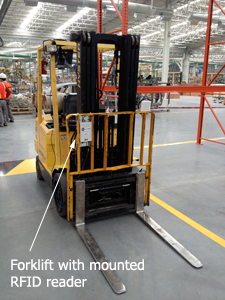 forklift with rfid